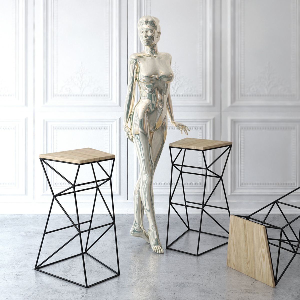 Support Design Furniture Pinterest Mobilier Tabouret Et