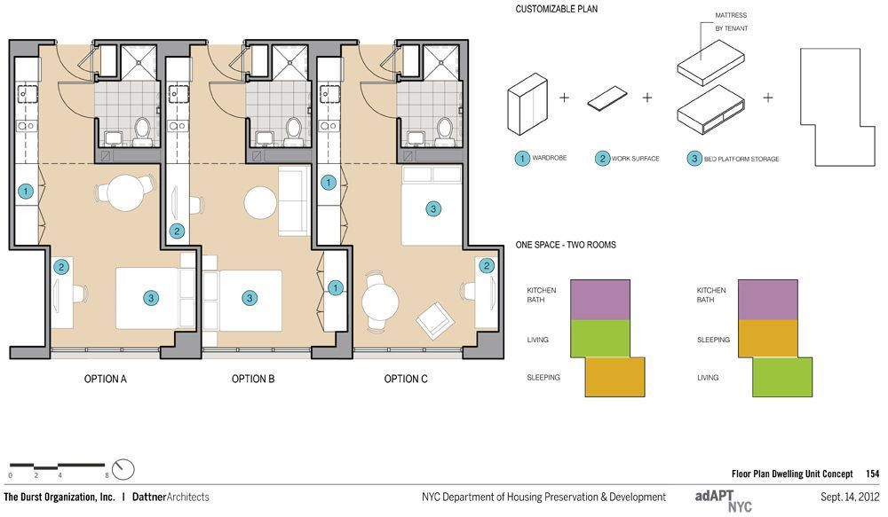 Meet The Five Finalists In Nyc S Micro Apartment
