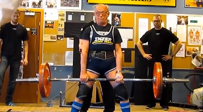 91 Year Old Bad Deadlifts 286 Pounds Exercises