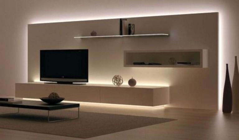 35 Creative Wooden Tv Stands Design Ideas Living Room Lighting