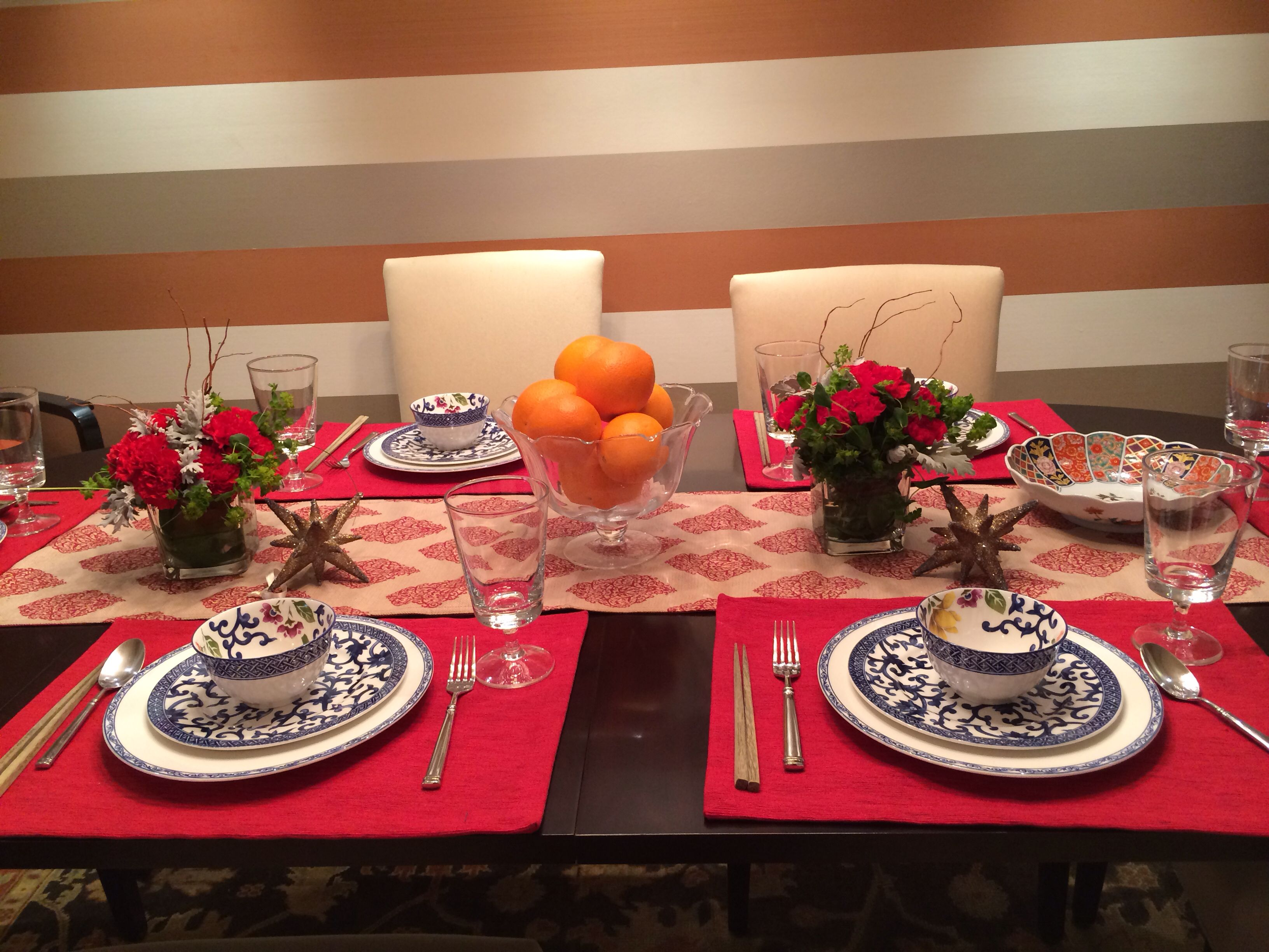 chinese new year dinner party table setting | holiday | pinterest