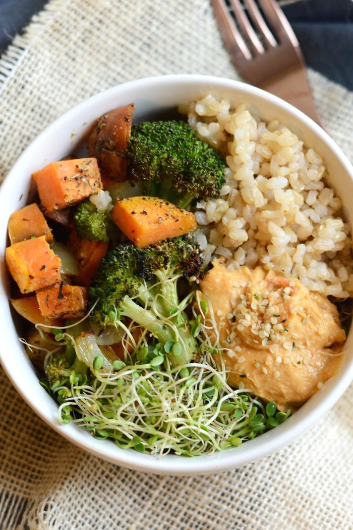 Vegetarian Brown Rice Bowl Blog Post Schedule Organization Vegetarian Recipes Vegetarian Healthy Cooking