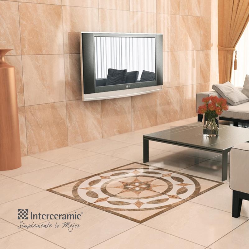 Mezcla estilos de pisos o azulejos para resaltar un for Pisos de porcelanato para sala