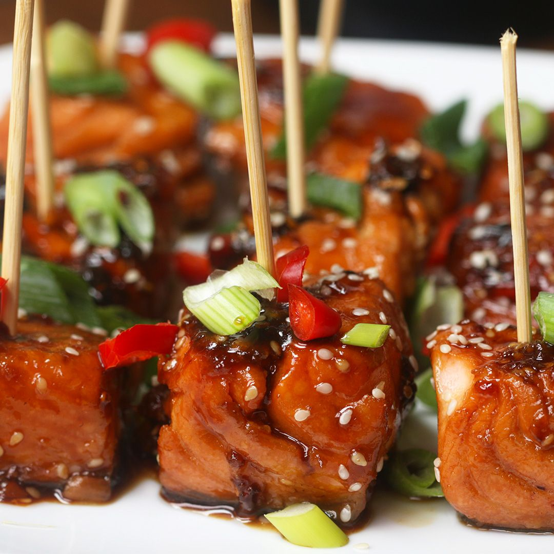 Teriyaki Salmon Bites Recipe by Tasty