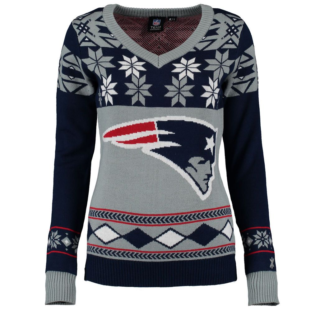 Klew Ugly Sweater New ENGLAND Patriots Large