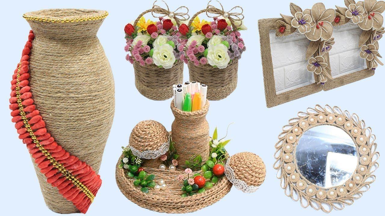 5 Jute craft ideas   Home decorating ideas handmade easy ...