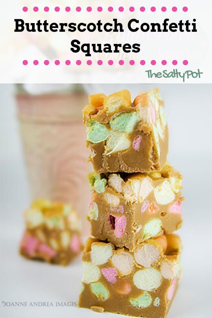 my love affair with butterscotch confetti squares #marshmallowtreats