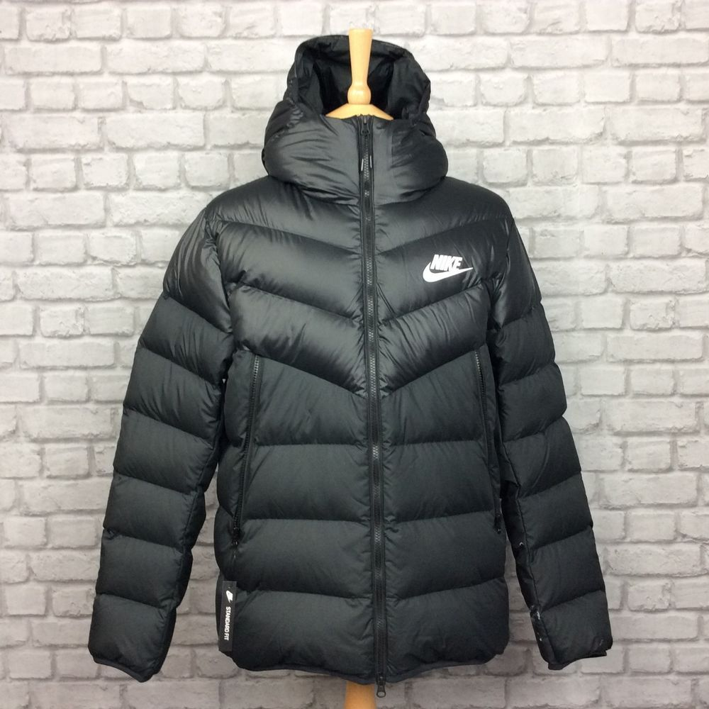 Nike Mens Uk L Windrunner Duck Down Fill Black Bubble Padded Jacket Coat 130 Coats Jackets Padded Jacket Jackets [ 1000 x 1000 Pixel ]