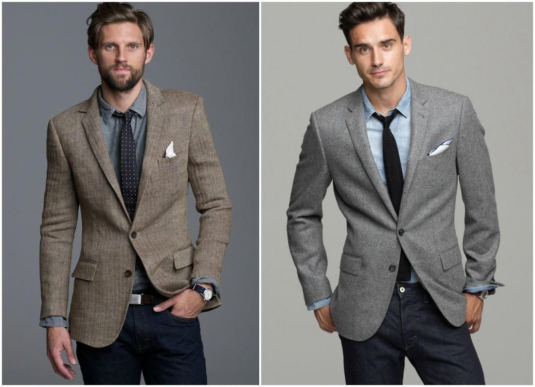 outfit grid how to wear a sports jacket with jeans