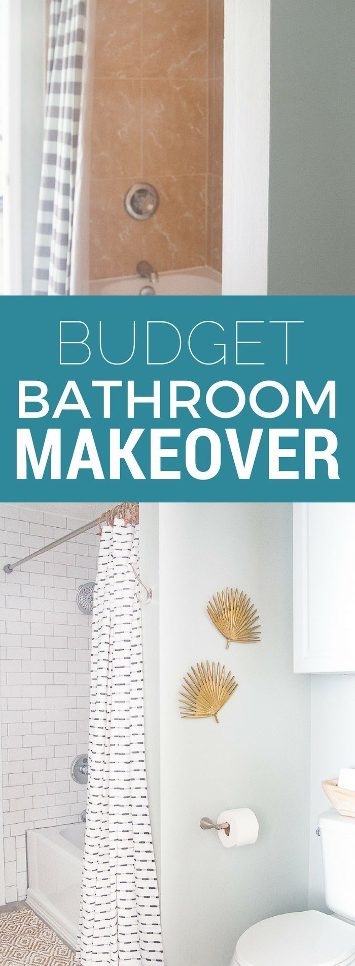 Updated Tub and Shower - White tile shower with gray grout | Budget ...