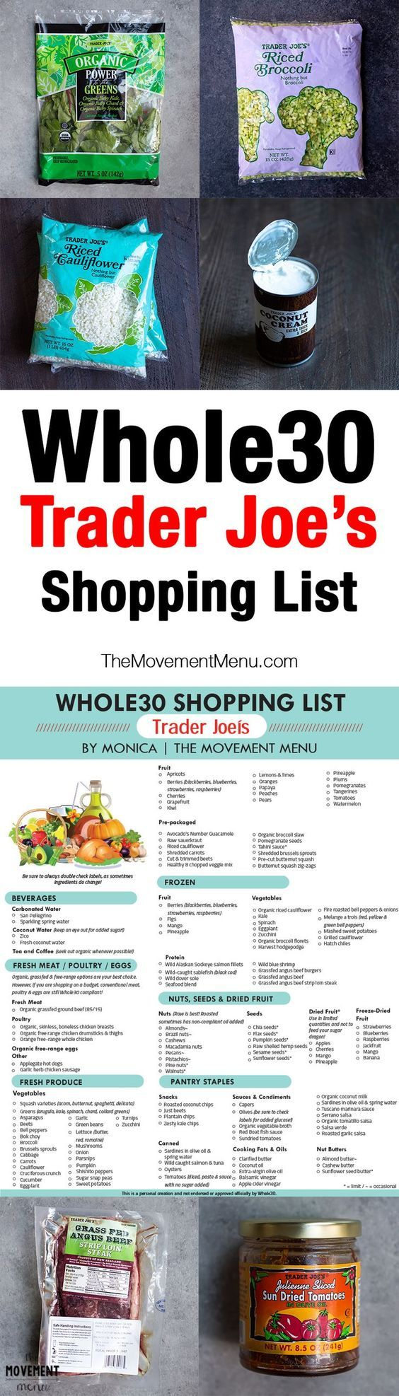 Whole30 Trader Joe's, Whole30 Trader Joe's Shopping List, Trader Joe's Shopping Guide. A shopping list you can print out or save for later. Whole30 recipes are included, too! | The Movement Menu {More on Trading|Successful trading|Trade erfolgreich|FOREX-Trading|Forex-Analysis} on