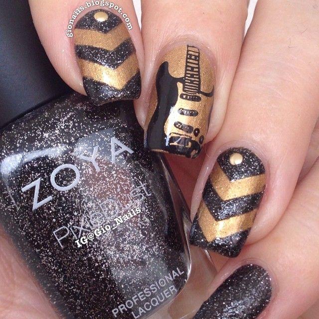 guitar chevron nails byew tee nail art nails chevron nails. Black Bedroom Furniture Sets. Home Design Ideas