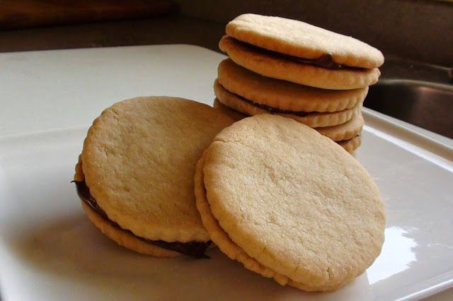zsuzsa is in the kitchen: NUTELLA SHORTBREAD COOKIES