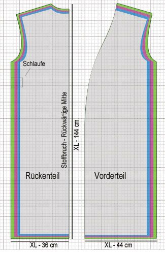 Schnittmuster Bademantel | schneidern-naehen.de | выкройки схемы ...