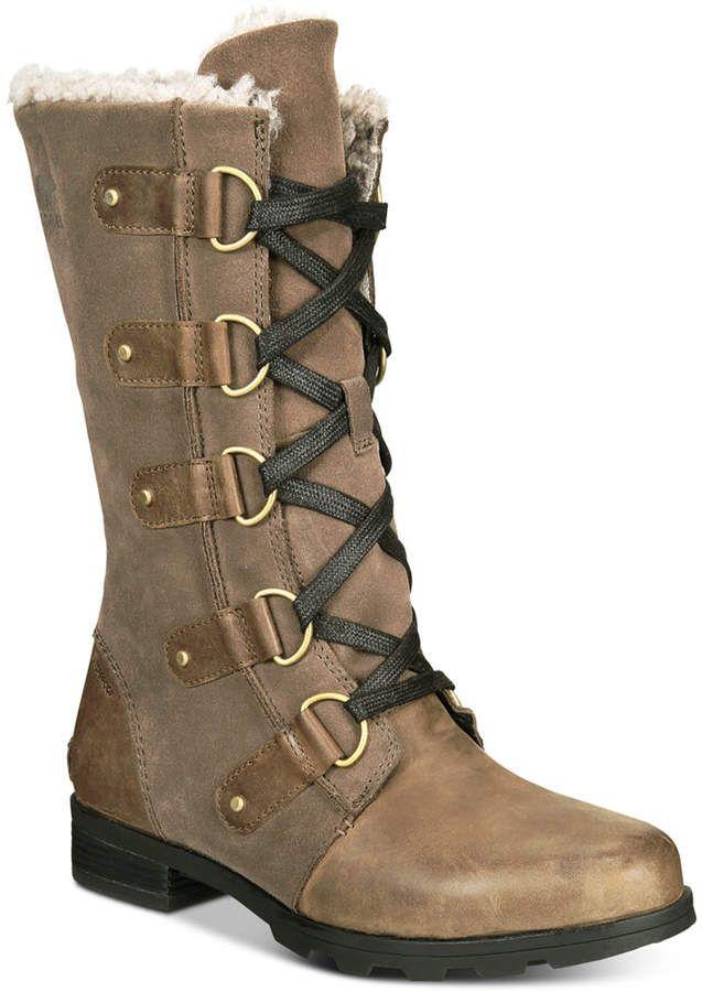 63bd7554358 Sorel Women Emelie Lace-Up Waterproof Boots Women Shoes | My Style ...