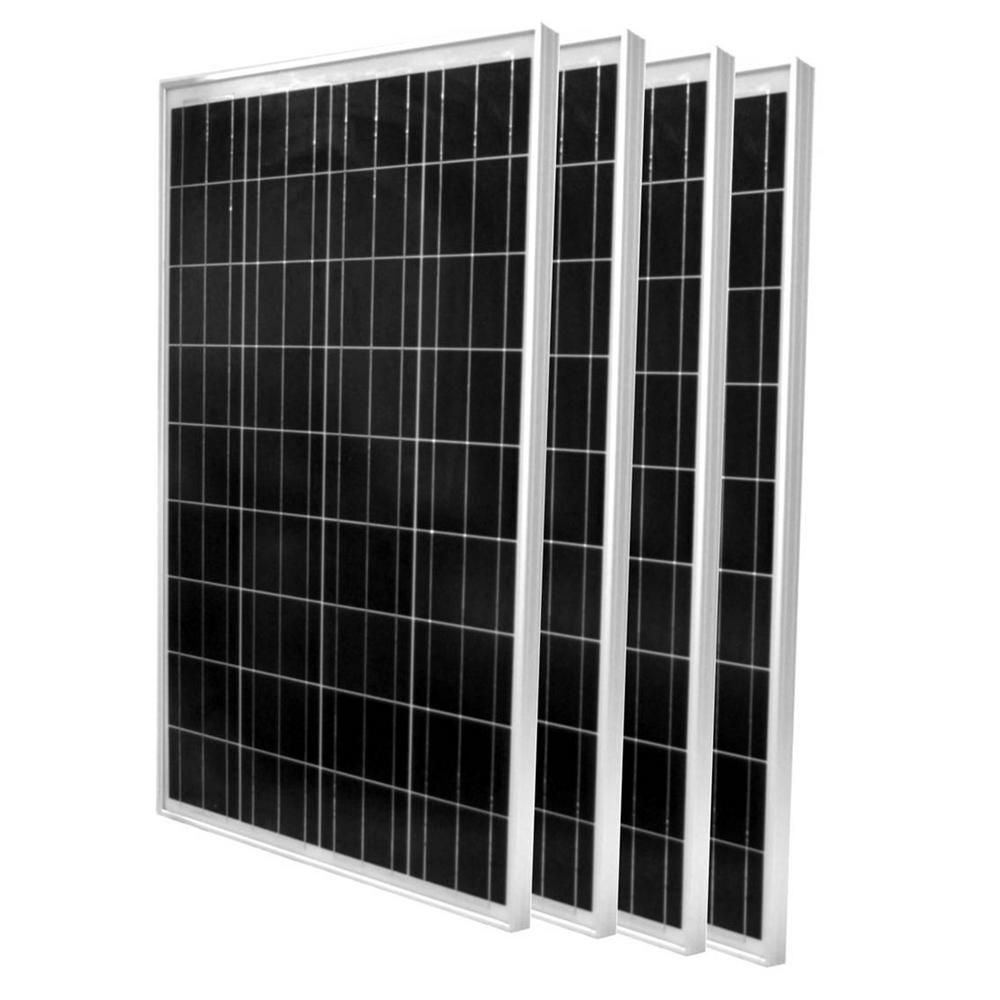 Windynation 100 Watt Polycrystalline Solar Panel 4 Pack In 2020 Best Solar Panels 12 Volt Solar Panels 100 Watt Solar Panel