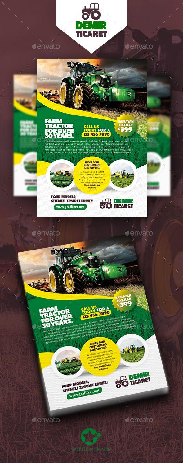 Farm Flyer Templates — PSD trees field