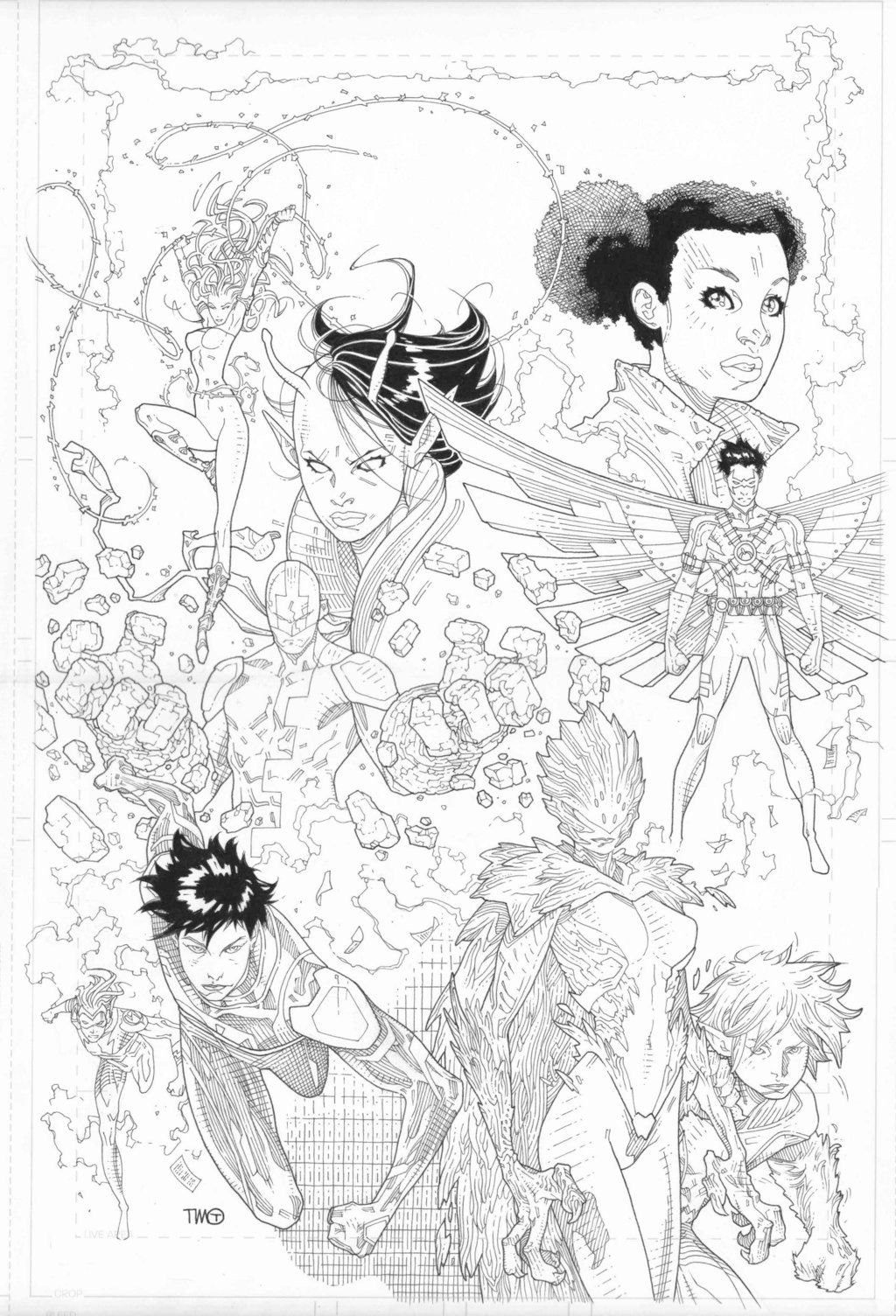 Teen Titans Adult Coloring Book by timothygreenII | LineArt: Teen ...