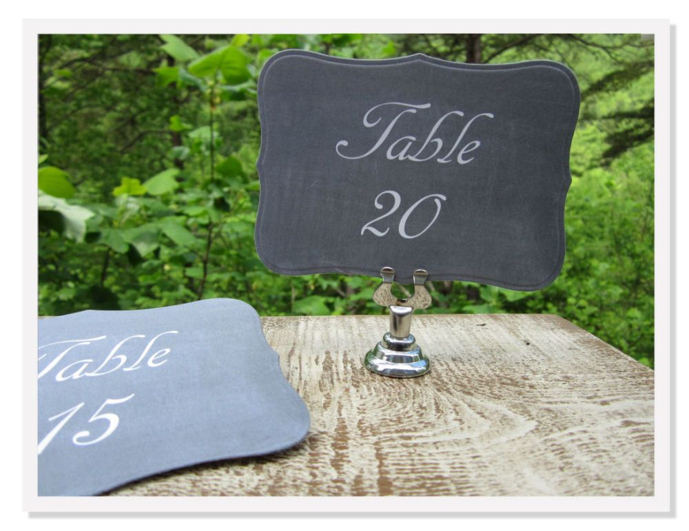Table number signs!