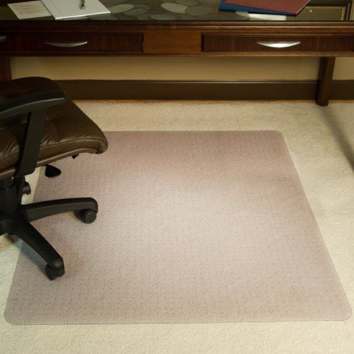 Desk Chair Mat For High Pile Carpet Bamboo Office Es Robbins Rectangle Vinyl Extra 46 Inch By 60 Clear Officechair