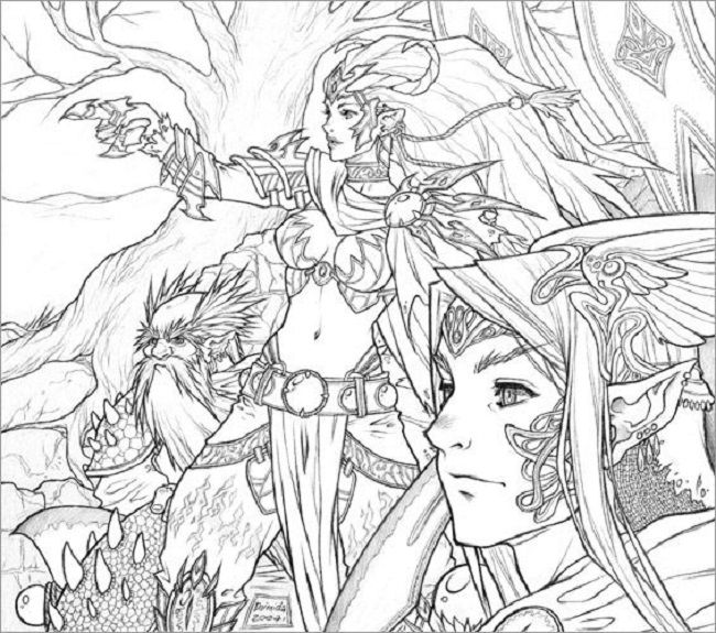 detailed fantasy coloring pages | coloring Pages | Pinterest ...