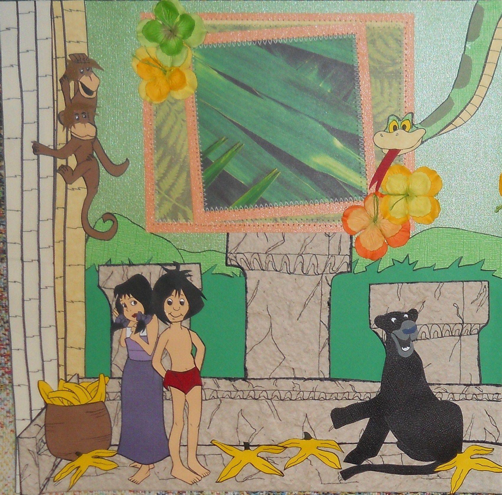 Jungle scrapbook ideas -  Jungle Book Disney Scrapbook Layout Page