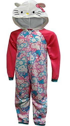 b843a0698 Little Girls  Hooded One-Piece Pajamas