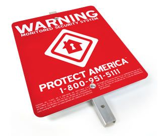 Protect America Security Yard Sign With Images Alarm Systems
