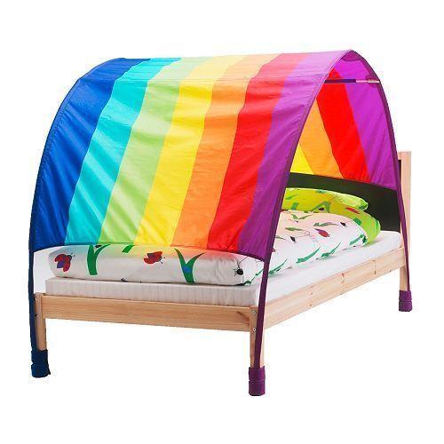 #Kidsbedroomtents#funforkids $13.50 Ikea Murmel Mult-colored Rainbow Canopy Kids Bedroom bed tent  sc 1 st  Pinterest & Ikea Murmel Mult-colored Rainbow Canopy Kids Bedroom bed tent ...