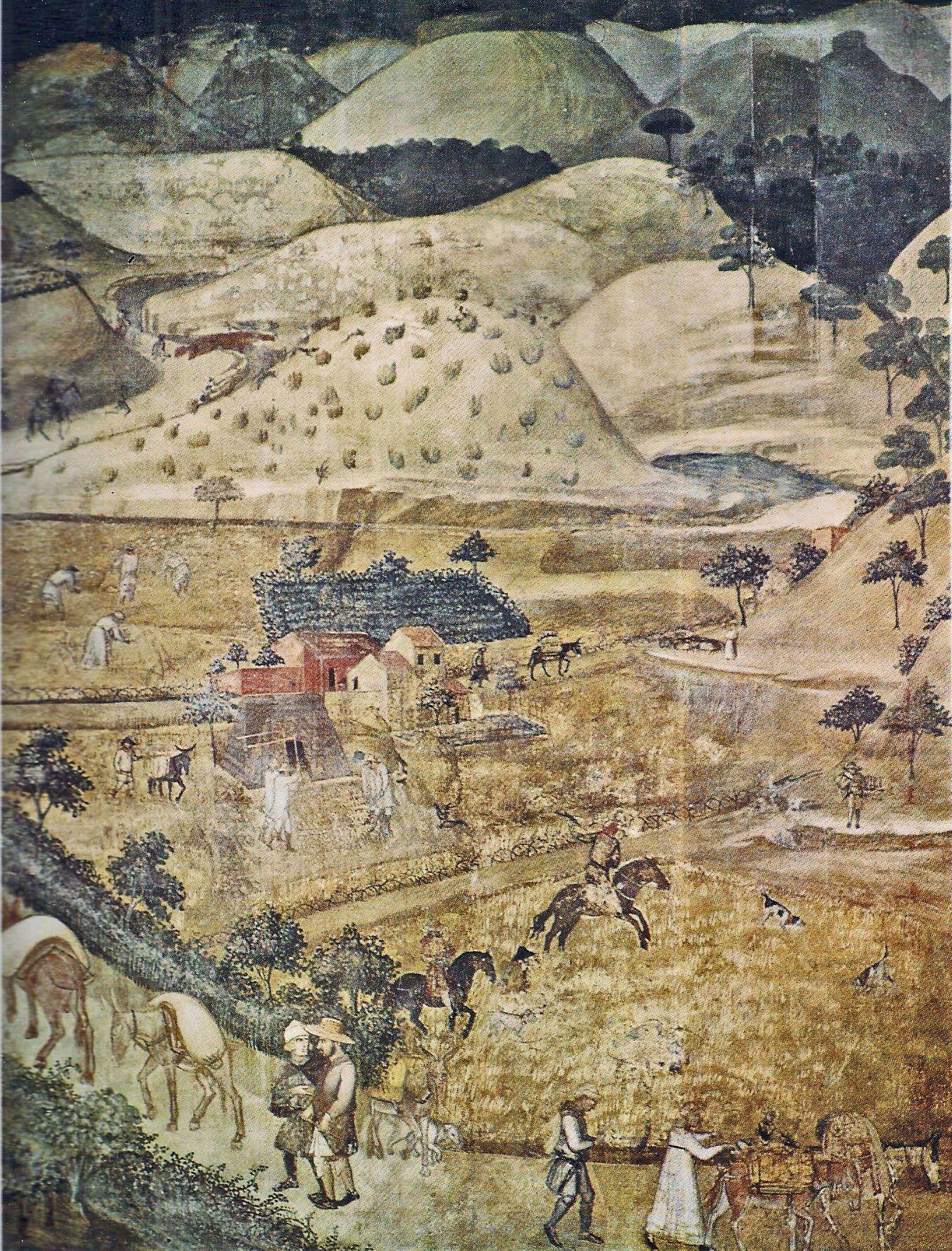 Il Paesaggio Agrario Nella Toscana Del Medioevo Paesaggi Disegno Del Viso Medioevo
