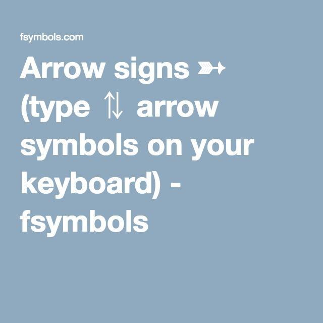 Arrow Signs Type Arrow Symbols On Your Keyboard Fsymbols