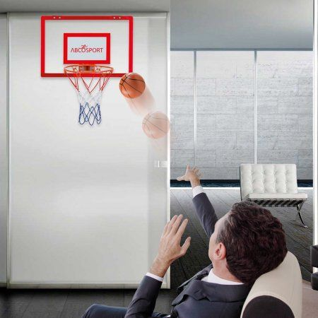 Indoor Mini Basketball Hoop Includes 5 Inch Dia Pro Mini Basketball And A Mini Air Pump Spring Action Mini Basketball Hoop Mini Basketballs Basketball Hoop