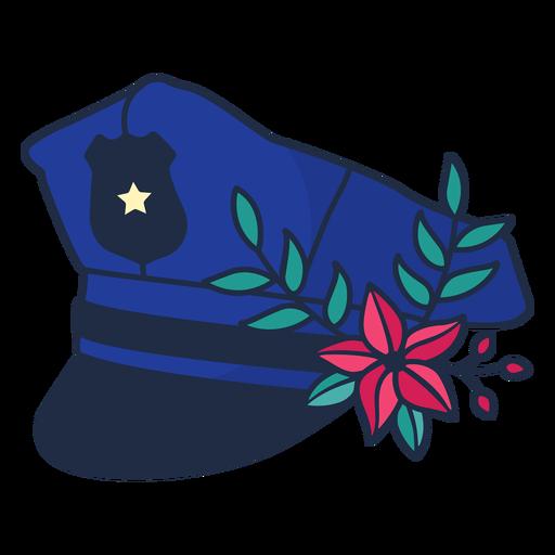 Police Flower Branch Hat Blue Ad Flower Police Hat Blue Branch Flower Branch Vintage Posters Graphic Image