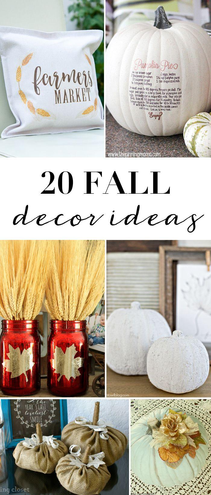 20 DIY Fall Decor Ideas images