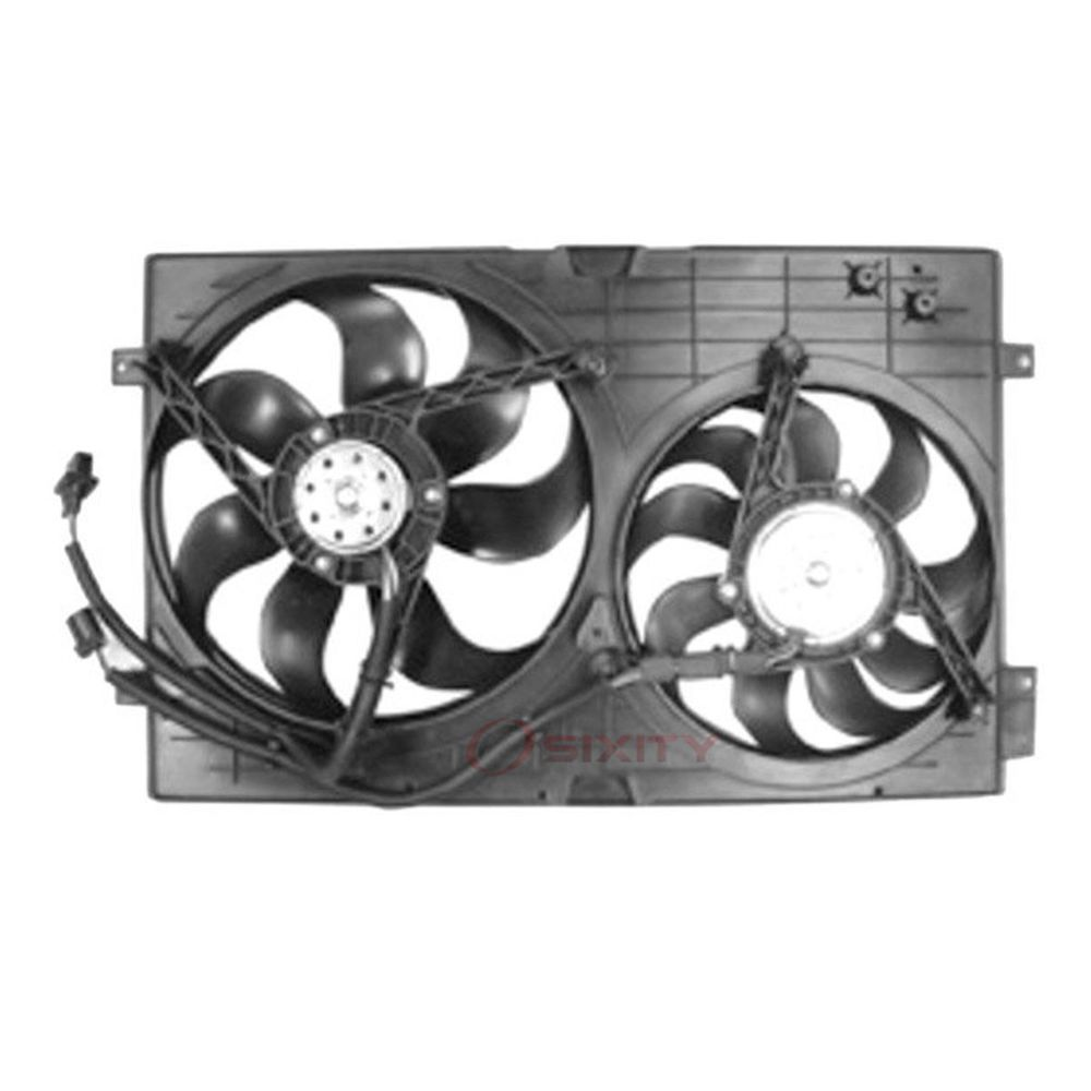 Tyc 620990 Dual Radiator And Condenser Fan Assembly For Volkswagen 1c0 959 Ti Truck Parts Cooling System Radiators