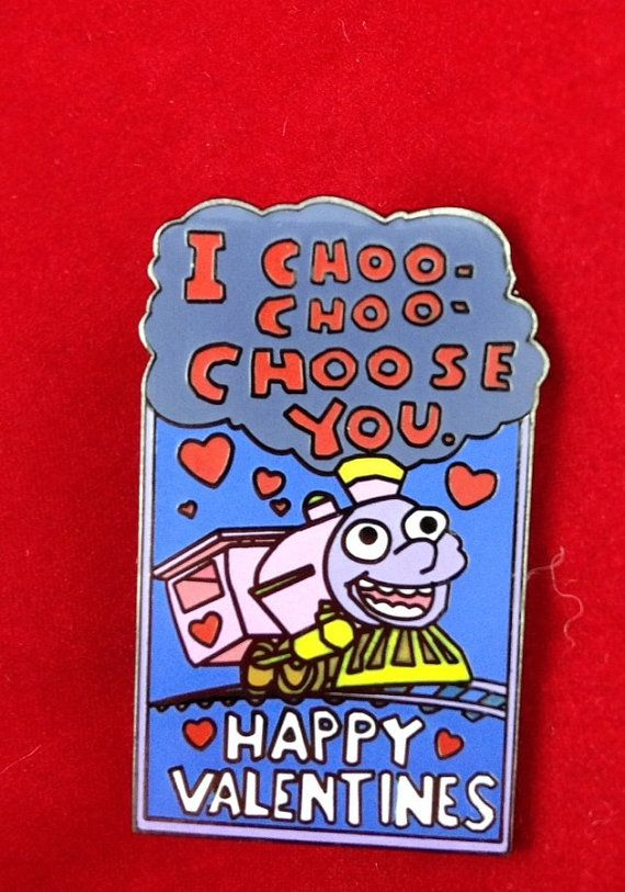 I Choo Choo Choose You Vday Hatpin Etsy Pin And Patches Cool Pins Patches