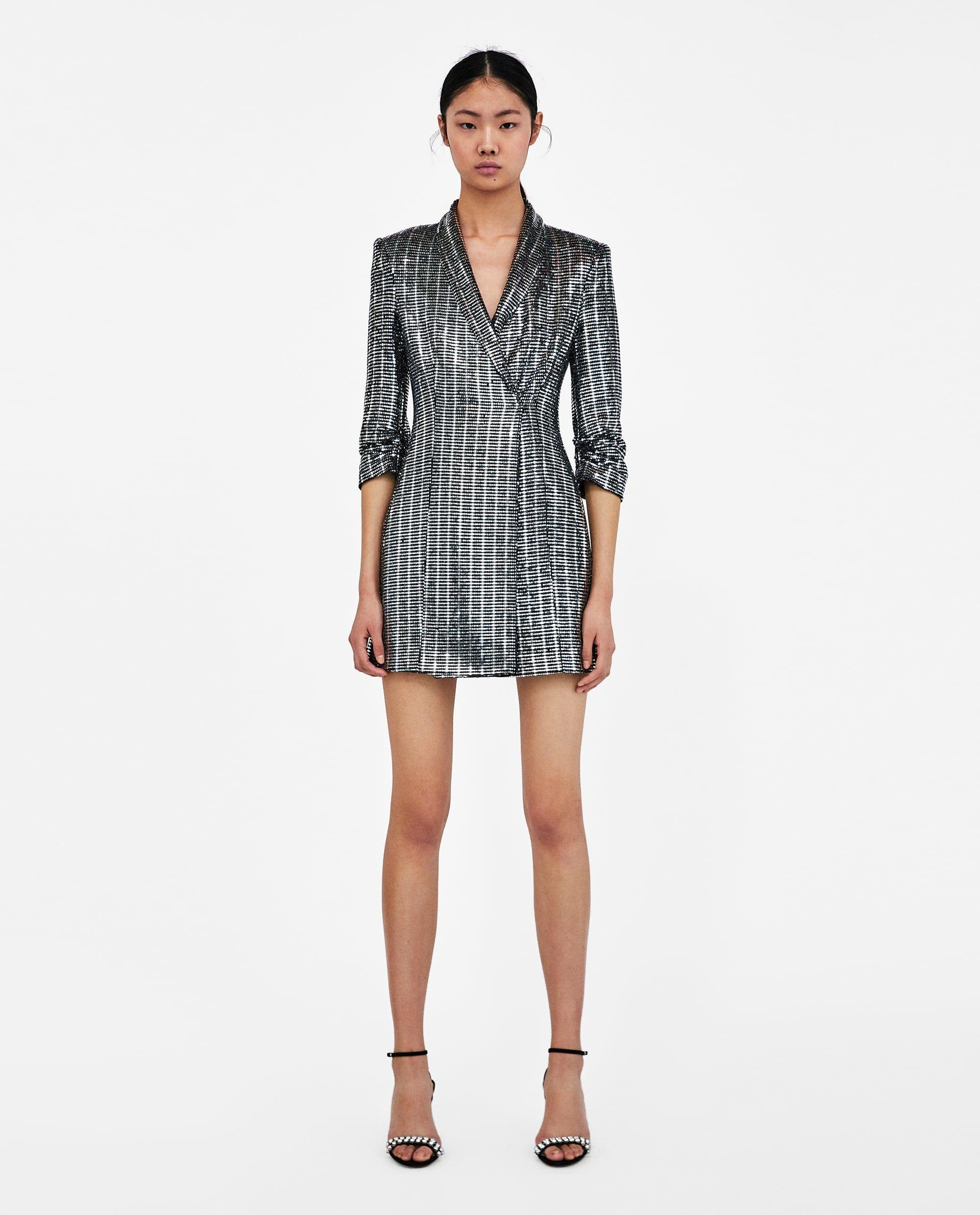 Metalizado Vestido Blazer Vestido Zara Blazer pqwxZCpd