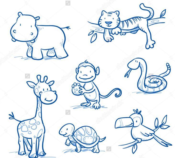 Animals Giraffenzeichnung Tier Doodles Vogel Zeichnen