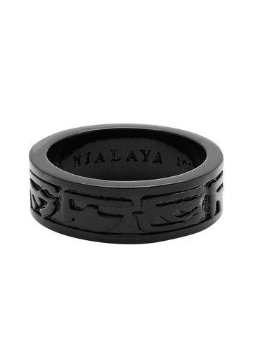 a15cc826f962 Black Ruthenium Ring  nialaya  black  ceramic  mensfashion