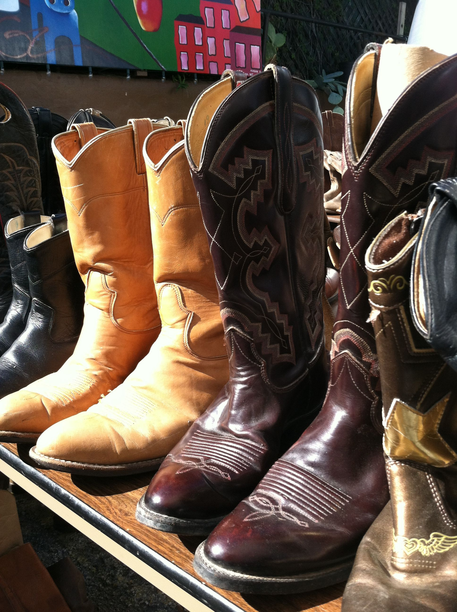 Cowboy boots at a flea market in Austin
