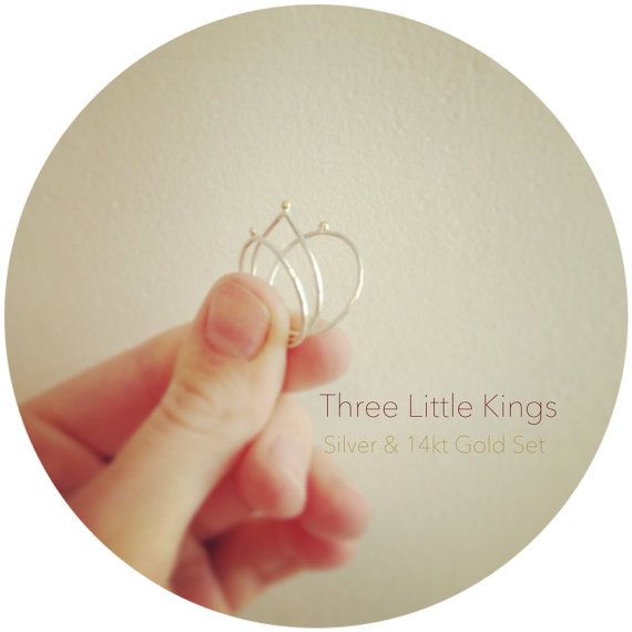 Three Little kings - Stackable Ring Set on Etsy, £80.00