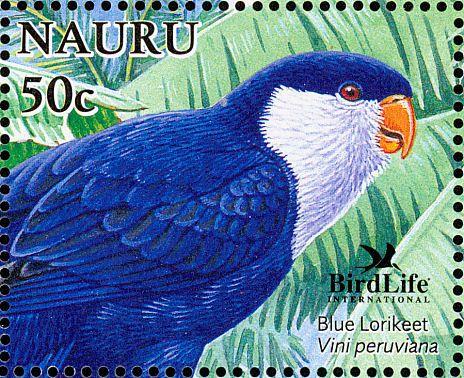 Nauru 2005 - El Lorito Monjita,originaria de la Polinesia Francesa e Islas Cook.