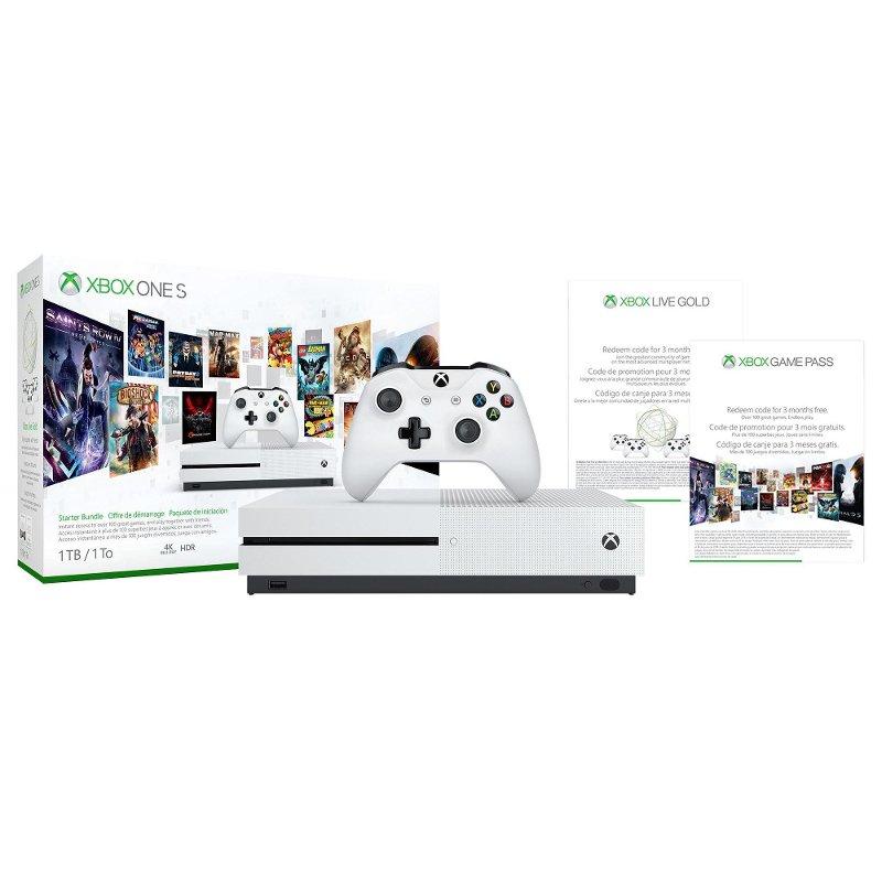 Xbox One S Starter Bundle 1tb White Xbox One Xbox One S Xbox