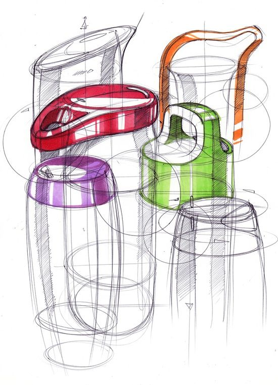 Sketching bottles design sketch pinterest for Produktdesign schule