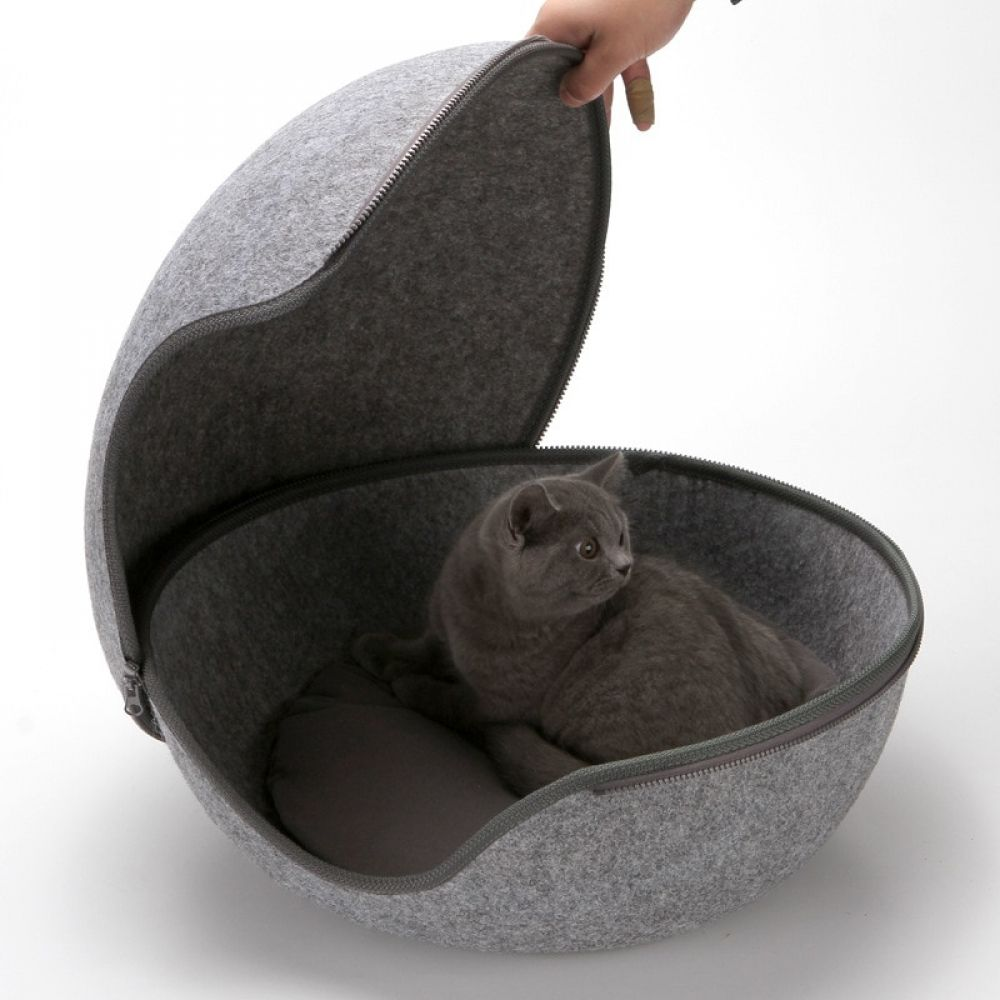 Ball Pet Cat Beds Nest Cat House Basket Pet Cave Funny Egg Type Pet Nest Cat House All Season Round Kitten Hole Comfortable Heated Cat Bed Kitten Beds Cat Bed