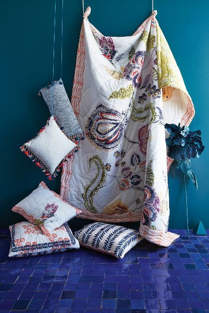 Tasseled Jacare Pillow #Anthropologie