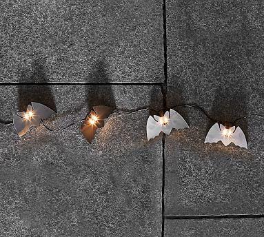 Mini Bat String Lights, Black Bats