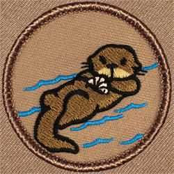 Cartoon Otter Patrol Patch (#801)