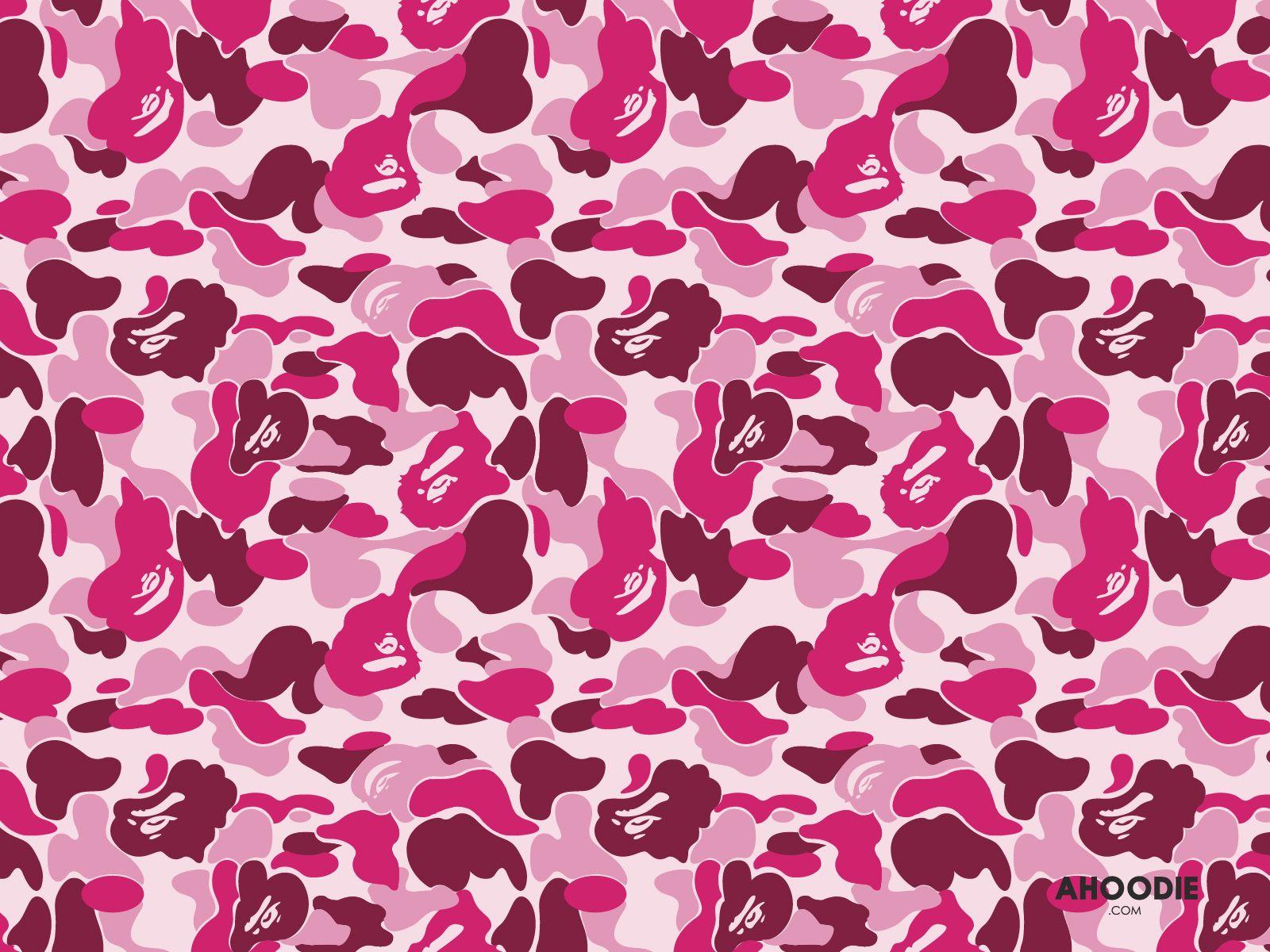 bape-camo-wallpaper-desktop_pink.jpg (1600×1200) | ㄹㄹ ...