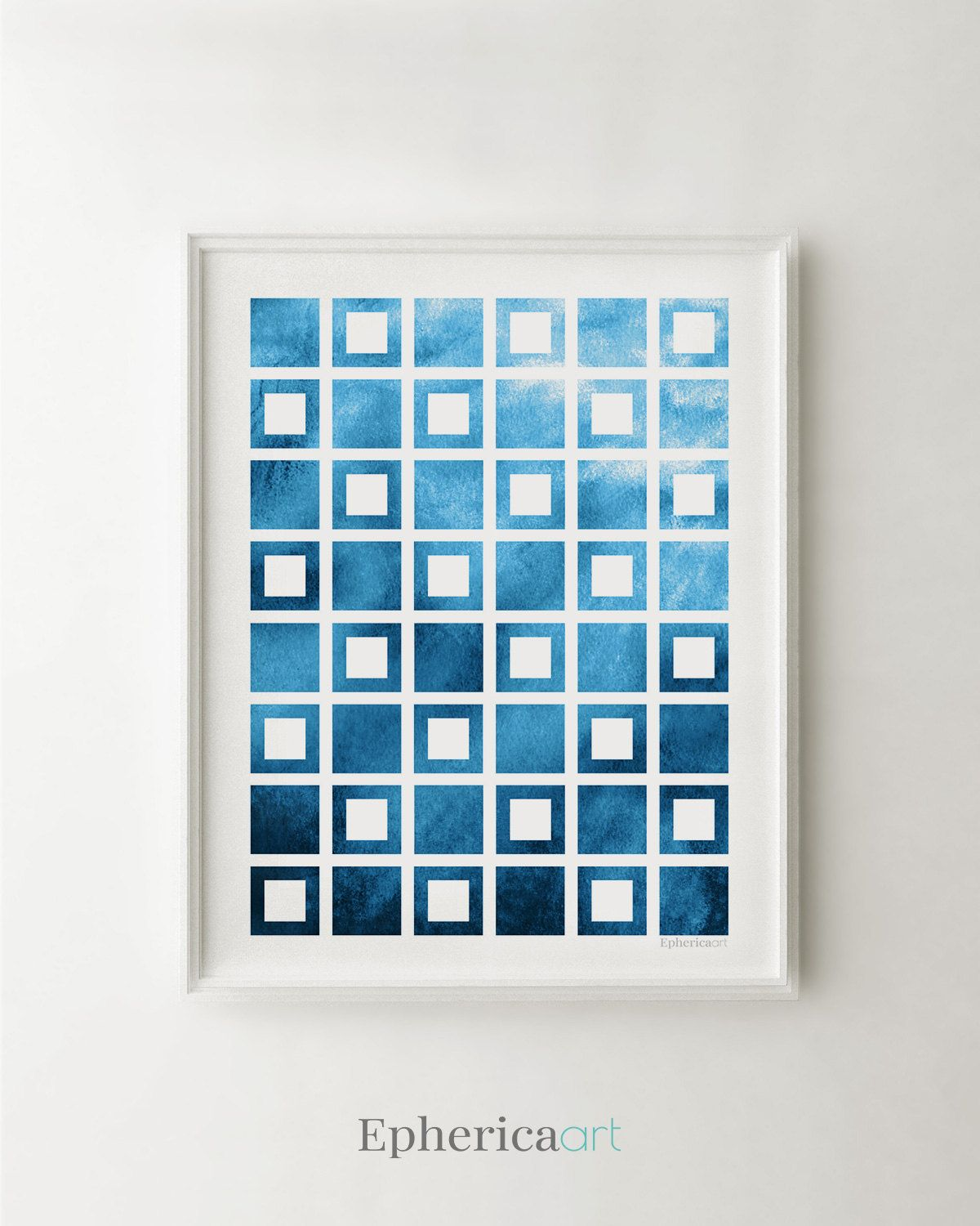Navy Blue Wall Art blue abstract print, blue modern art, geometric art navy blue wall